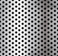 Vector perforated metallic seamless pattern this is file of eps format Royalty Free Stock Image