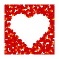 Vector petal heart Royalty Free Stock Image