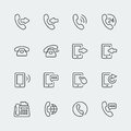 Vector phone and communication mini icons Royalty Free Stock Photo