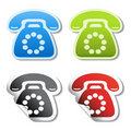 Vector phone stickers Royalty Free Stock Photo
