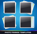 Vector photo frames gallery template Royalty Free Stock Photo