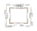 Vector photoframe abstract photo frame this is file of eps format Royalty Free Stock Image