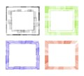 Vector photoframe color abstract Stock Images