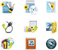 Vector photography icons. Part 3 Royalty Free Stock Photo