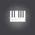 Vector of piano key .music icon
