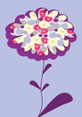 Vector picture with flower Royalty Free Stock Photo