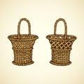 Vector picture of wickerwork basket