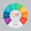 Vector pie chart template for graphs, charts, diagrams