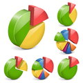 Vector pie charts isolated on white background Stock Photography