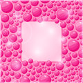 Vector pink bubble frame with square place for text invitation card or brochure Stock Photo