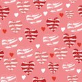 Vector pink and red love hearts