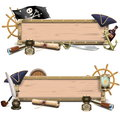 Vector Pirate Billboards Royalty Free Stock Photo
