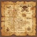Vector Pirate Treasure Map Royalty Free Stock Photo