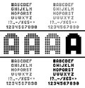 Vector pixel alphabet Stock Photos