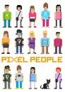 Vector Pixel People! Royalty Free Stock Photo