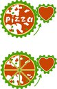 Vector pizza - vital energy Royalty Free Stock Photos