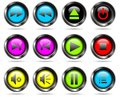 Vector player buttons Stock Image