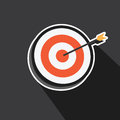 Vector of point of target eps Royalty Free Stock Images
