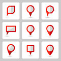 Vector pointer  red icons set various forms Royalty Free Stock Photo
