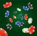 Vector Poker Chips Rain Winner Concept Royalty Free Stock Photo