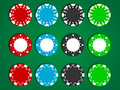 Vector Poker Chips Royalty Free Stock Photo