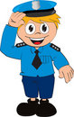 Vector Policeman cartoon Royalty Free Stock Image