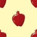 Vector pomegranate seamless pattern Royalty Free Stock Photo