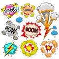 Vector pop art comic modern speech bubble set Royalty Free Stock Photo