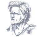 Vector portrait of attractive woman, illustration of good-lookin