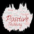 Vector positive thinking, happy strong attitude