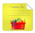 Vector post it shopping list illustration this is file of eps format Royalty Free Stock Image