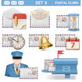 Vector Postal Icons Set 9 Stock Photography