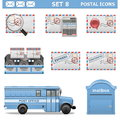 Vector Postal Icons Set 8 Royalty Free Stock Photo