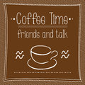 Vector poster Cofee time Royalty Free Stock Photo
