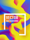 Vector poster with colorful abstract background.