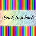 Vector poster Back to school with colorful pencils.