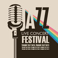 Poster for concert of jazz music with a microphone