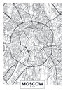 Vector poster map city Moscow Royalty Free Stock Photo