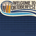 Vector poster for Oktoberfest