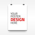 Vector poster template of a paper sheet illustration for your projects Royalty Free Stock Photo