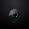 Vector power button Royalty Free Stock Photo