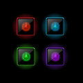 Vector power buttons set of Stock Photo