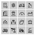 Vector power and energy icons this is file of eps format Royalty Free Stock Photos