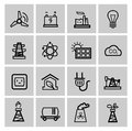Vector power and energy icons this is file of eps format Royalty Free Stock Image