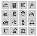 Vector power and energy icons this is file of eps format Stock Photo