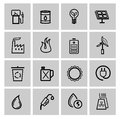 Vector power and energy icons this is file of eps format Stock Photography