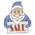 Vector pre holiday sale from santa illustration of Royalty Free Stock Photos