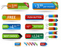 Vector premium set of price tags. Royalty Free Stock Images