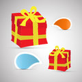 Vector Present Boxes and Tags Royalty Free Stock Photo
