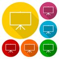 Vector presentation board icons